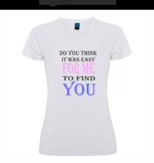 Дамска тениска с надпис А0043