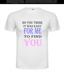 Мъжка тениска с надпис А0044