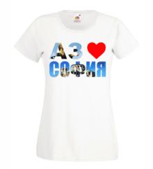 Дамска тениска с щампа A0178