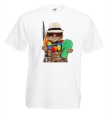 Мъжка тениска с щампа A0200