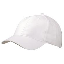 Бяла шапка с козирка С617