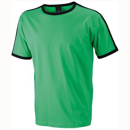 Мъжка тениска с кантове С533