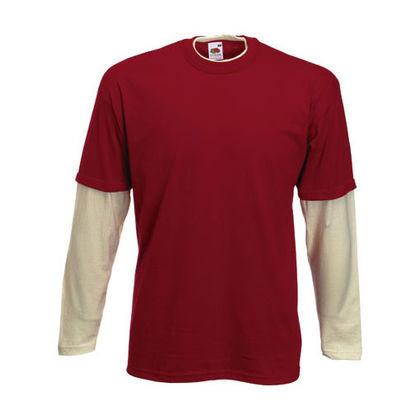 Мъжка блуза с двуцветни ръкави С1739