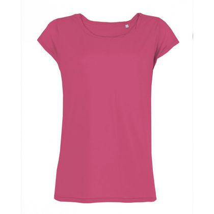 Дамска тениска със скосен ръкав С1248