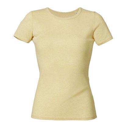 Дамска вталена тениска с обло деколте С1249