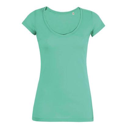 Нежна дамска тениска с остро деколте С1034