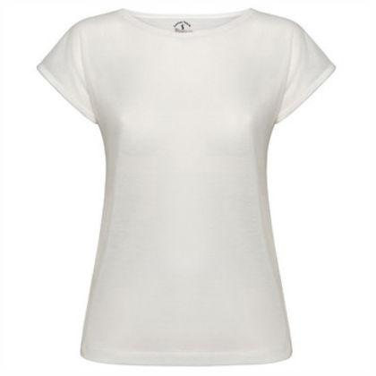 Дамска Българска тениска със скосени ръкави С405
