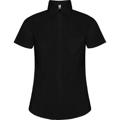 Стилна дамска риза с къс ръкав С335