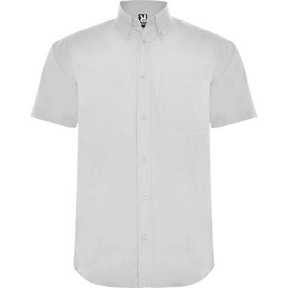 Едноцветна мъжка риза с къс ръкав С336