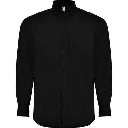 Едноцветна мъжка риза с дълъг ръкав С264