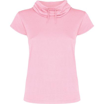 Дамска тениска с шал яка С482