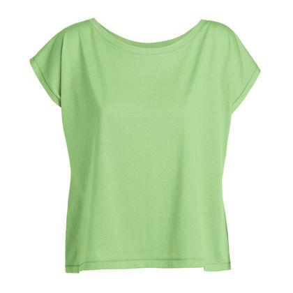 Къса дамска тениска с широко деколте С640