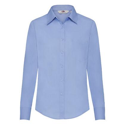 Дамска официална риза с дълъг ръкав С63