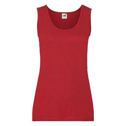 Червена дамска тениска без ръкав С337-1