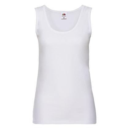 Бяла дамска тениска без ръкав С337