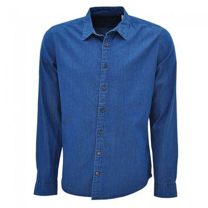 Мъжка дънкова риза с дълъг ръкав С1243