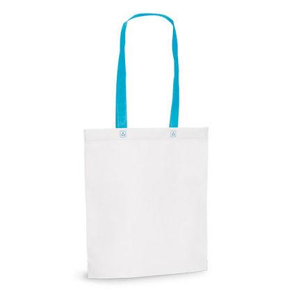 Чанта за пазаруване с цветни дръжки С1187
