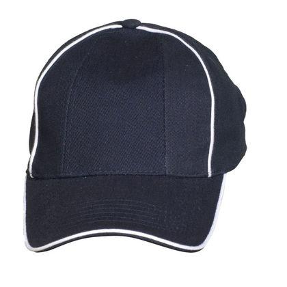 Универсална шапка с бели ръбове С386