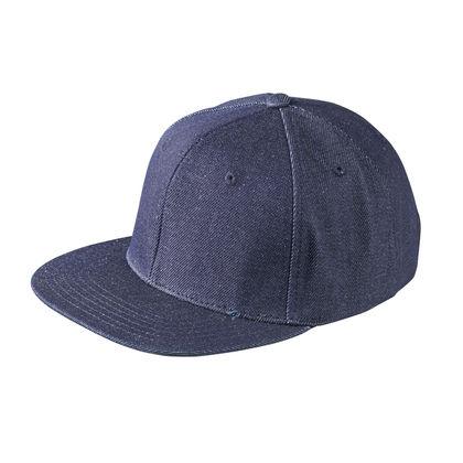 Дънкова шапка с плоска козирка С893