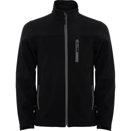 Вталено черно яке за мъже С8-2