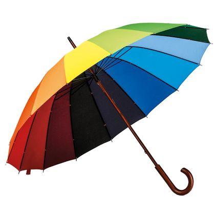 Многоцветен ръчен чадър С1708