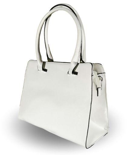 Елегантна дамска чанта в бяло Рос