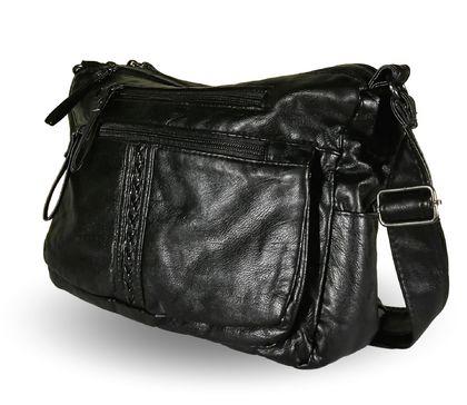 Дамска чанта от варена кожа Сузи