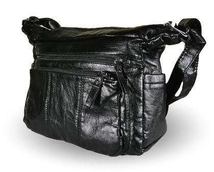 Дамска чанта от варена Еко кожа Зара