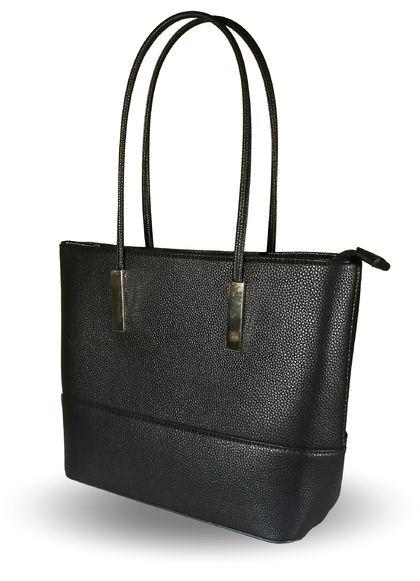 Черна изчистена чанта Ева