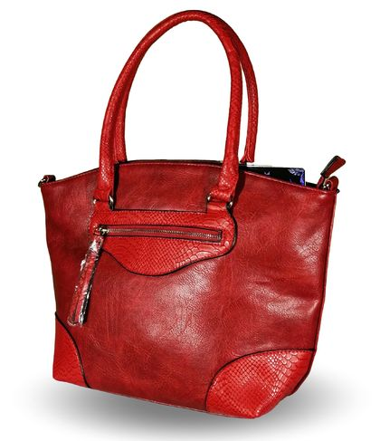 Кожена дамска чанта в бордо Колорадо-1