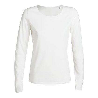 Луксозна дамска блуза в бяло С1292