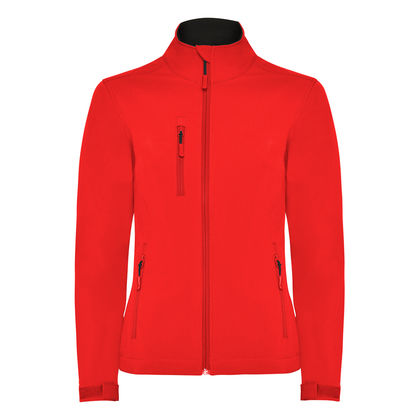 Непромокаемо дамско яке в червено С1369-2