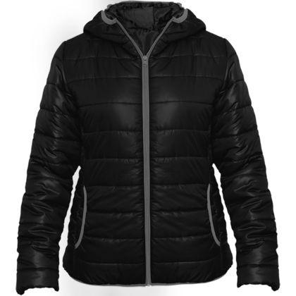Черно дамско яке с качулка С267-3