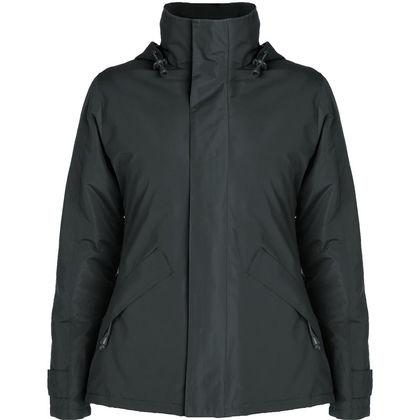 Зимно дамско яке в цвят графит С266-5