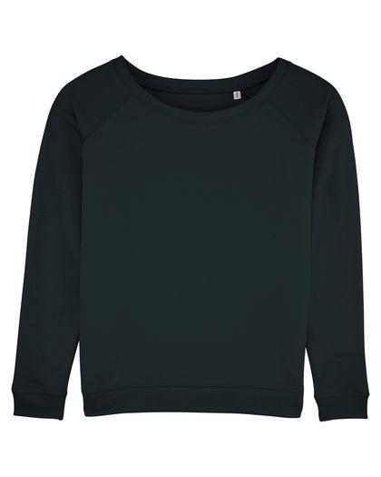 Плътна дамска блуза в черно С1204-2