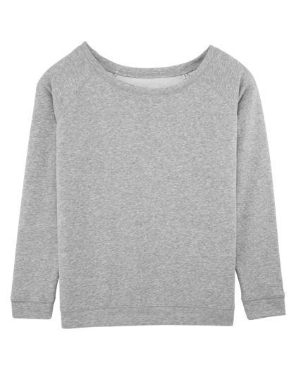 Плътна дамска блуза в сиво С1204-3