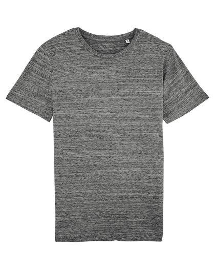 Меланжирана мъжка тениска в сиво С1940-2
