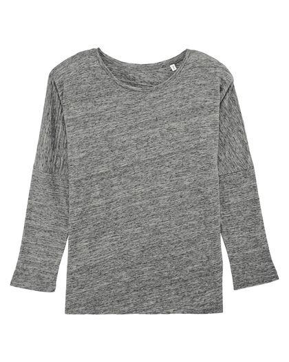 Меланжирана дамска блуза с 3/4 ръкав С1923-2