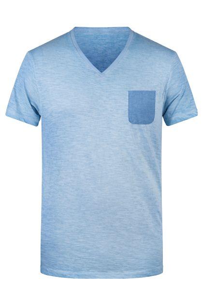 Стилна мъжка тениска с джоб В8016ДН