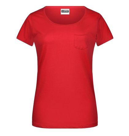 Дамска тениска с джоб В8003ДН