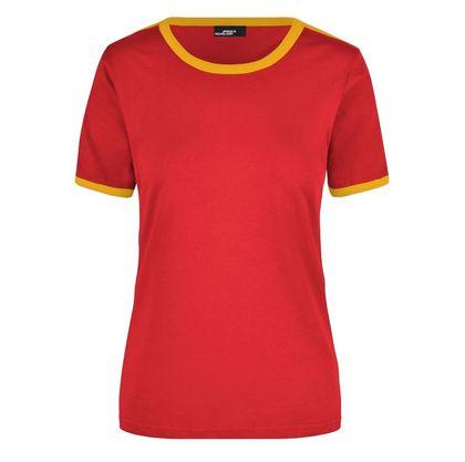 Дамска тениска с контрастни кантове В018ДН