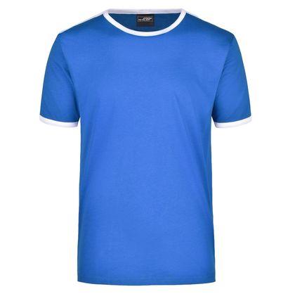 Мъжка тениска с контрастни кантове В017ДН