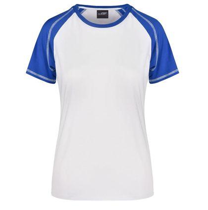 Спортна двуцветна дамска тениска В011ДН