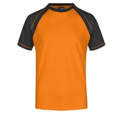 Спортна двуцветна мъжка тениска В010ДН