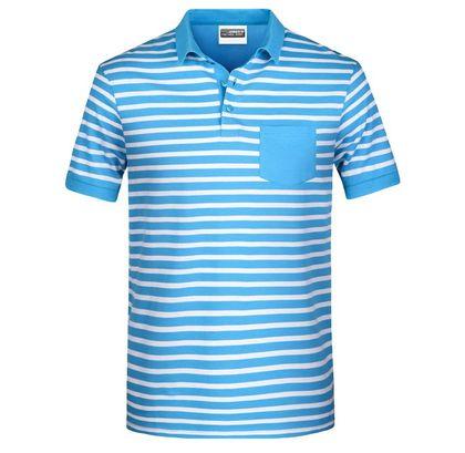 Мъжка раирана риза с джоб В8030ДН