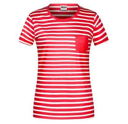 Раирана дамска тениска с джоб В8027ДН