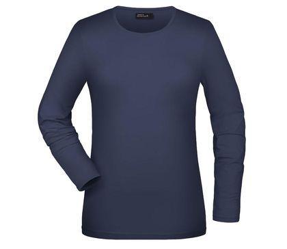 Изчистена дамска блуза с ликра В054ДН