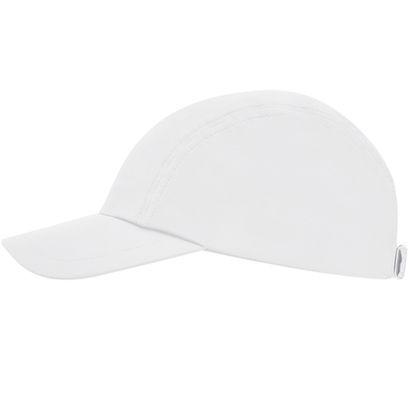 Бяла еластична шапка с козирка С2059