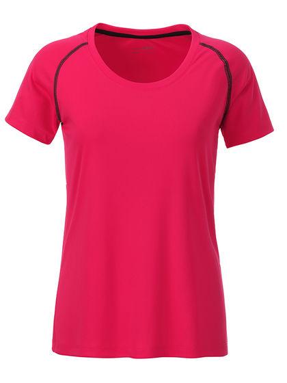 Дамска тениска с контрастен шев В495ДН