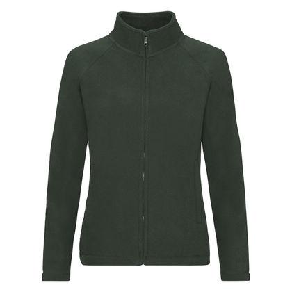 Поларено дамско яке тъмно зелено С62-3